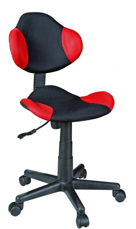 Bureaustoel Argonaut rood/zwart