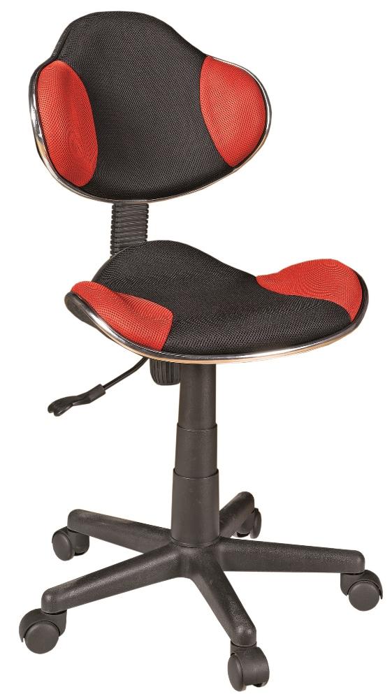 Bureaustoel Atlas – Zwart met rood