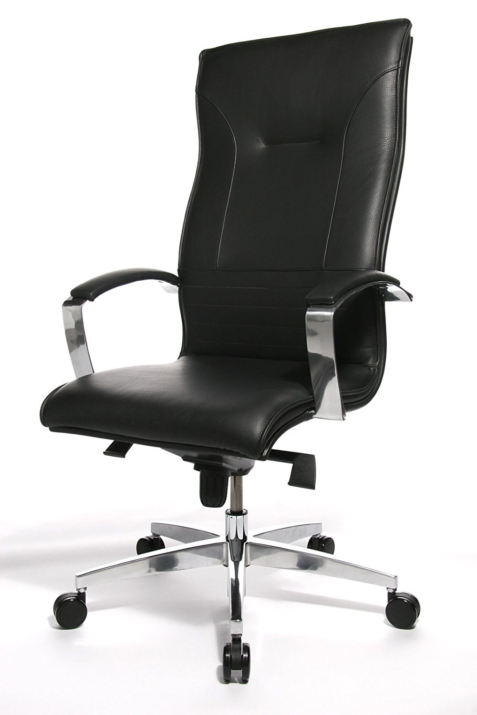 Directie Bureaustoel Lean On 5 – Zwart Leder
