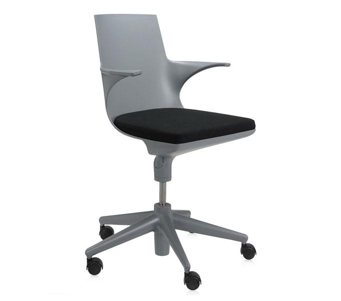 Kartell Spoon Chair bureaustoel-Grijs