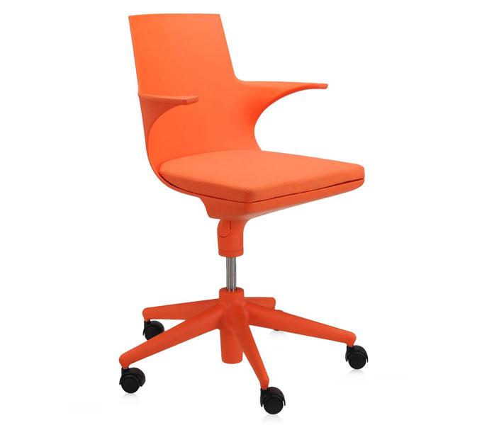 Kartell Spoon Chair bureaustoel-Oranje