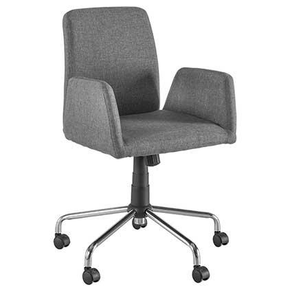 Bureaustoel vierkant grijs